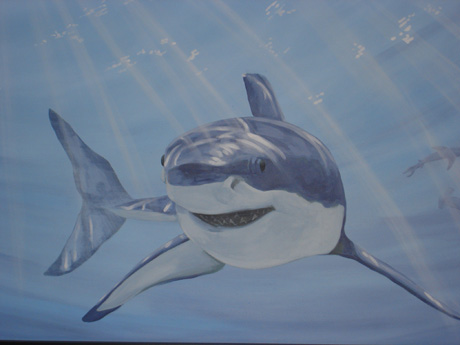 Shark Mural - Mural Painting, School & Library Murals, York Region, Ontario
