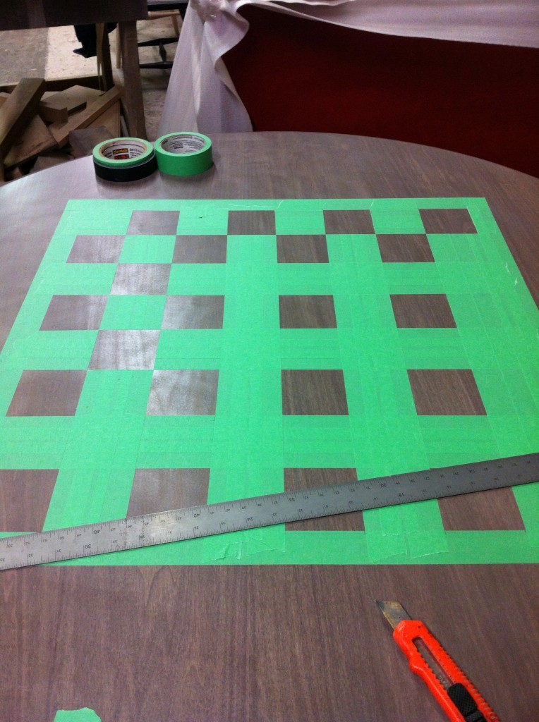 Hand Painted Checker Board Paint A Lifestyle